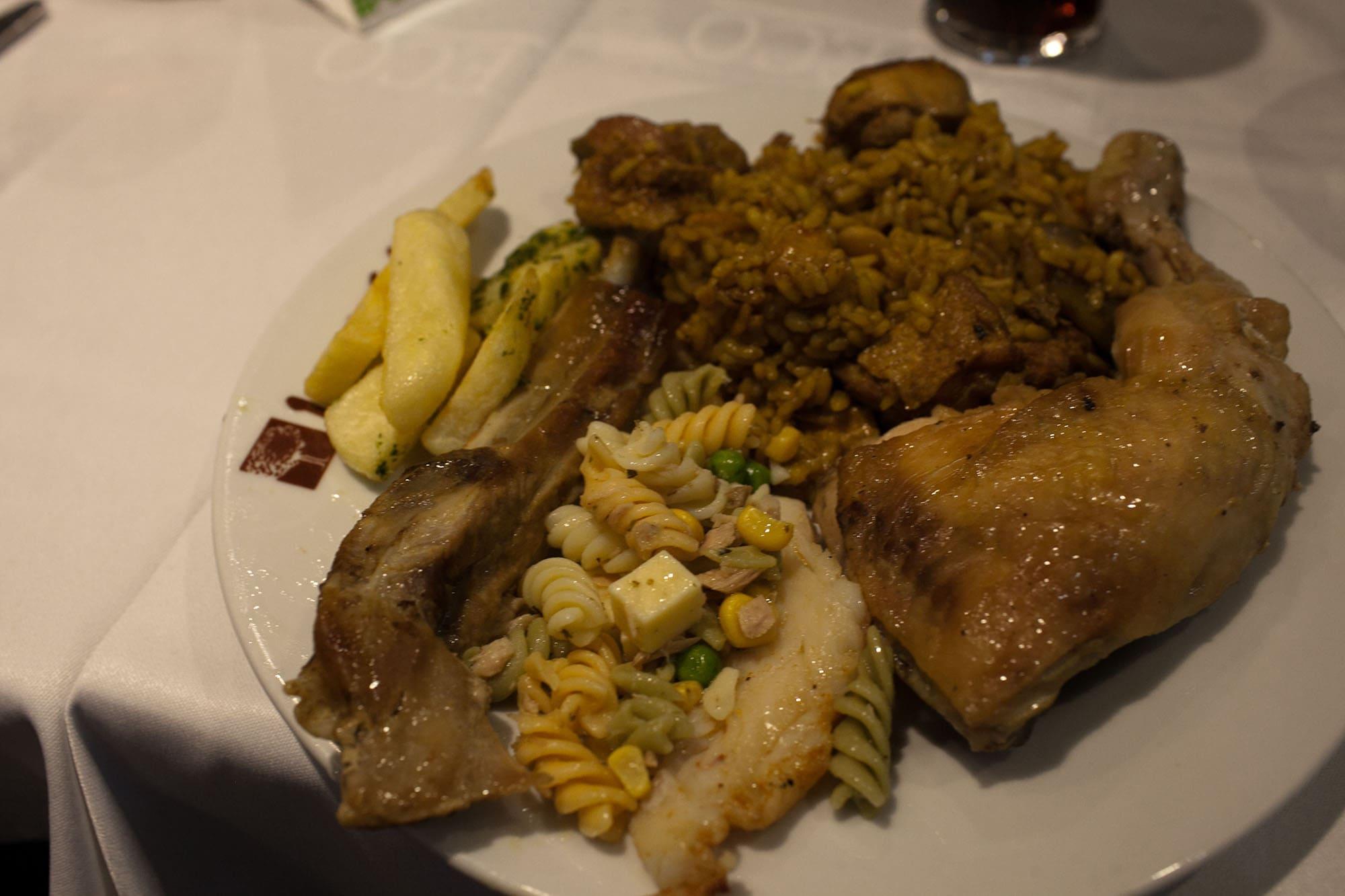 Spanish buffet in Valencia, Spain