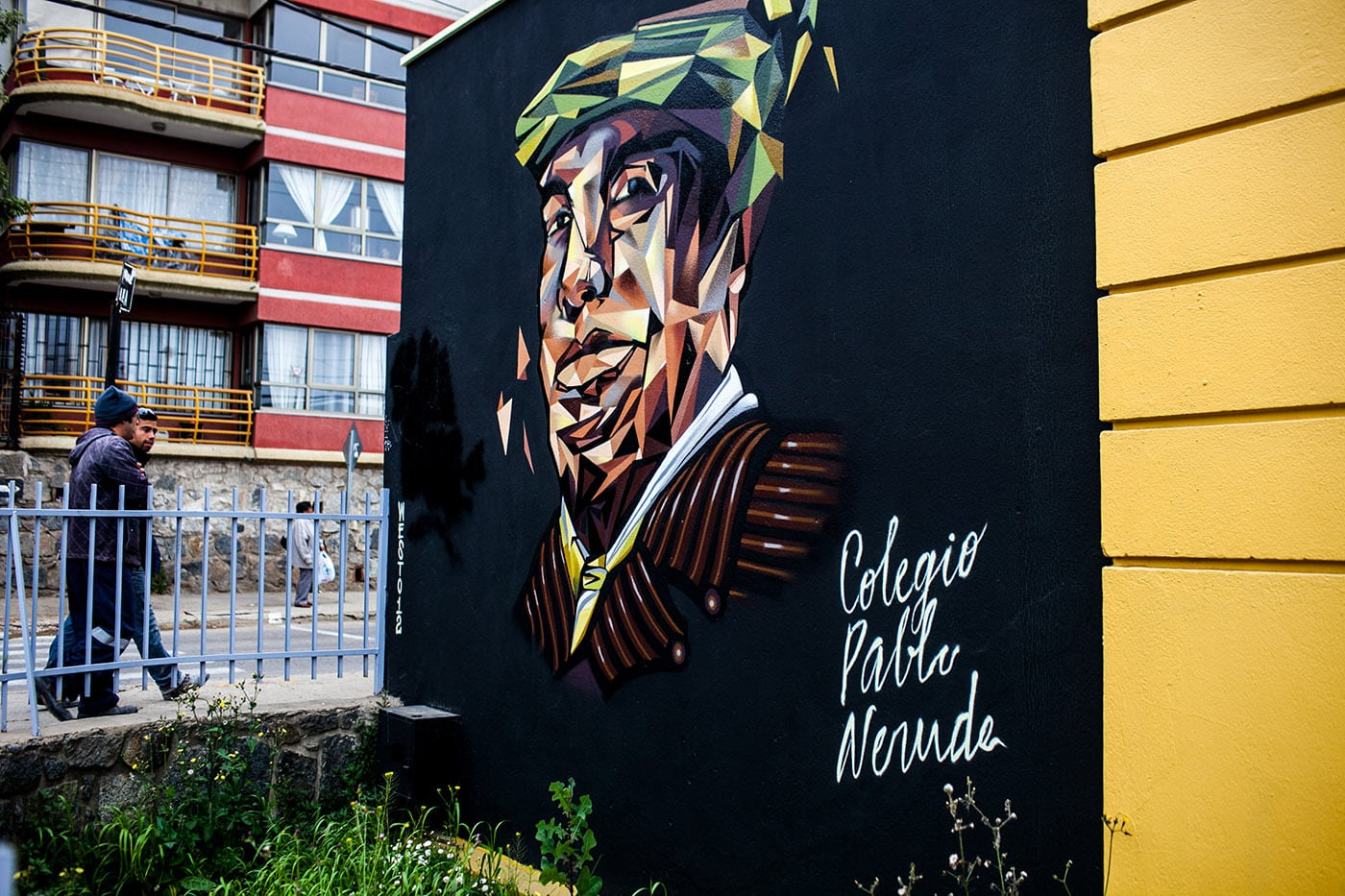 Best Street Art in Valparaiso, Chile - Pablo Neruda