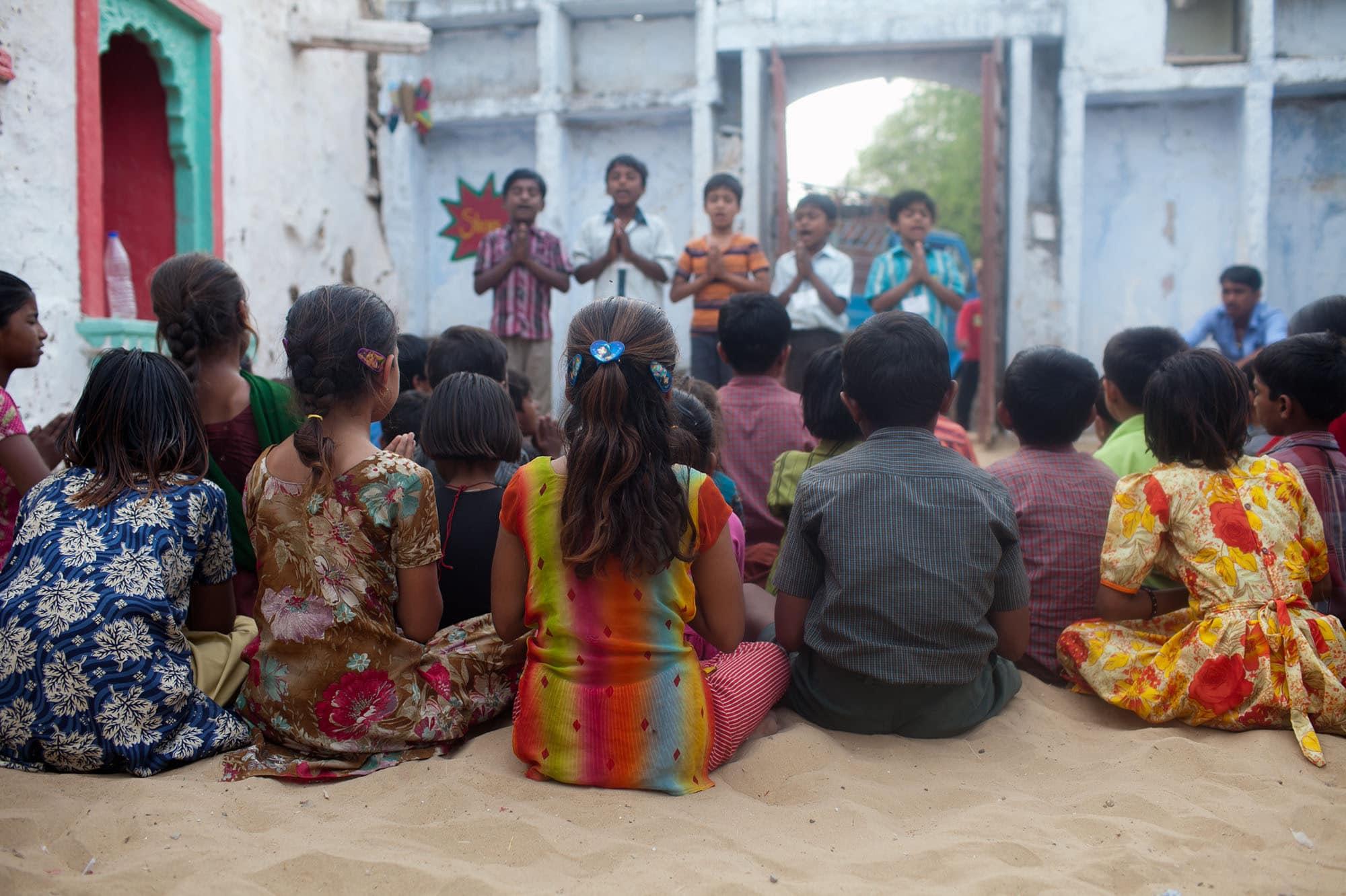 Volunteering at Sambhali Trust Empowerment Center in Setrawa, India.