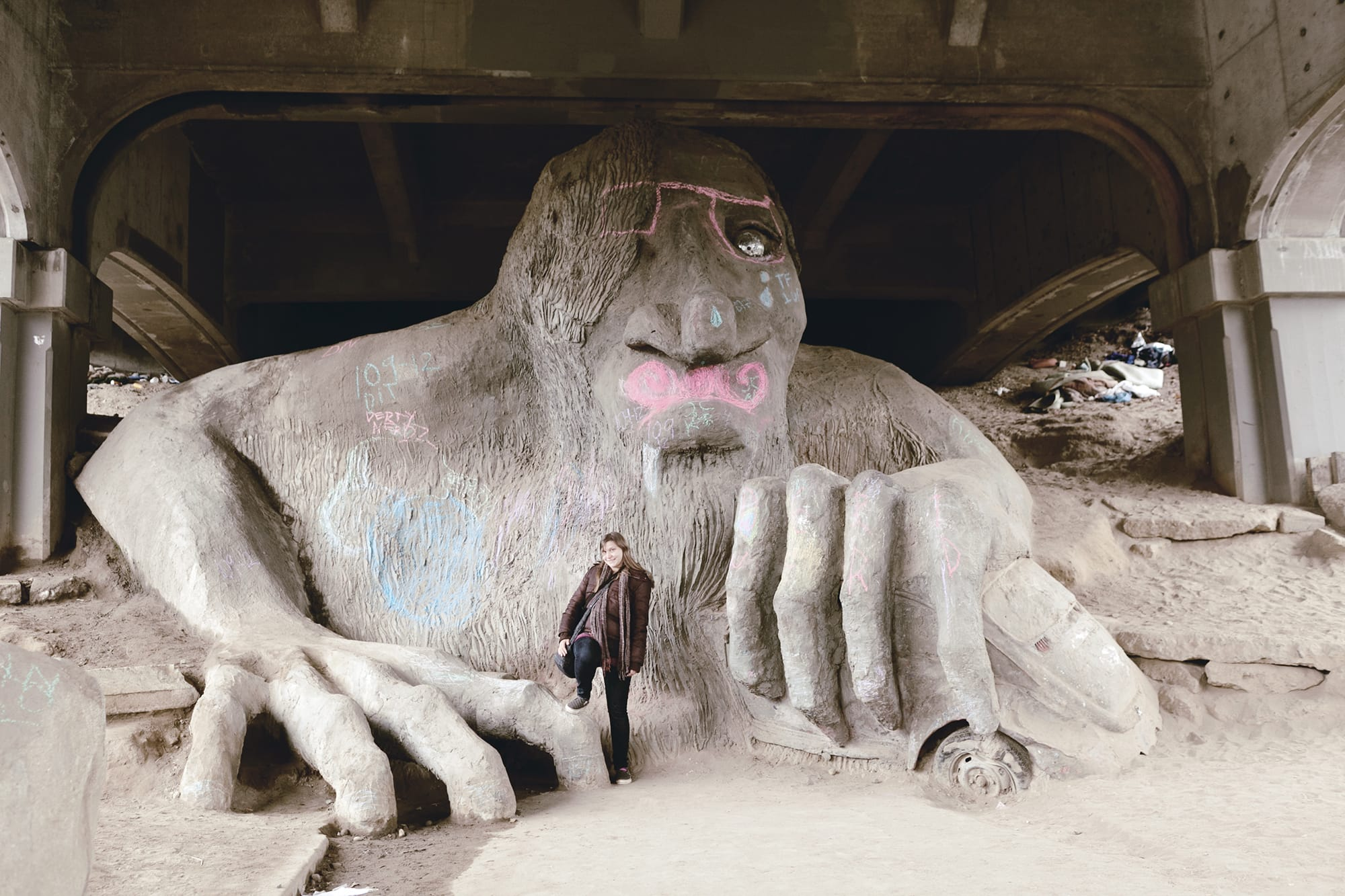 Fremont Troll in Seattle, Washington.