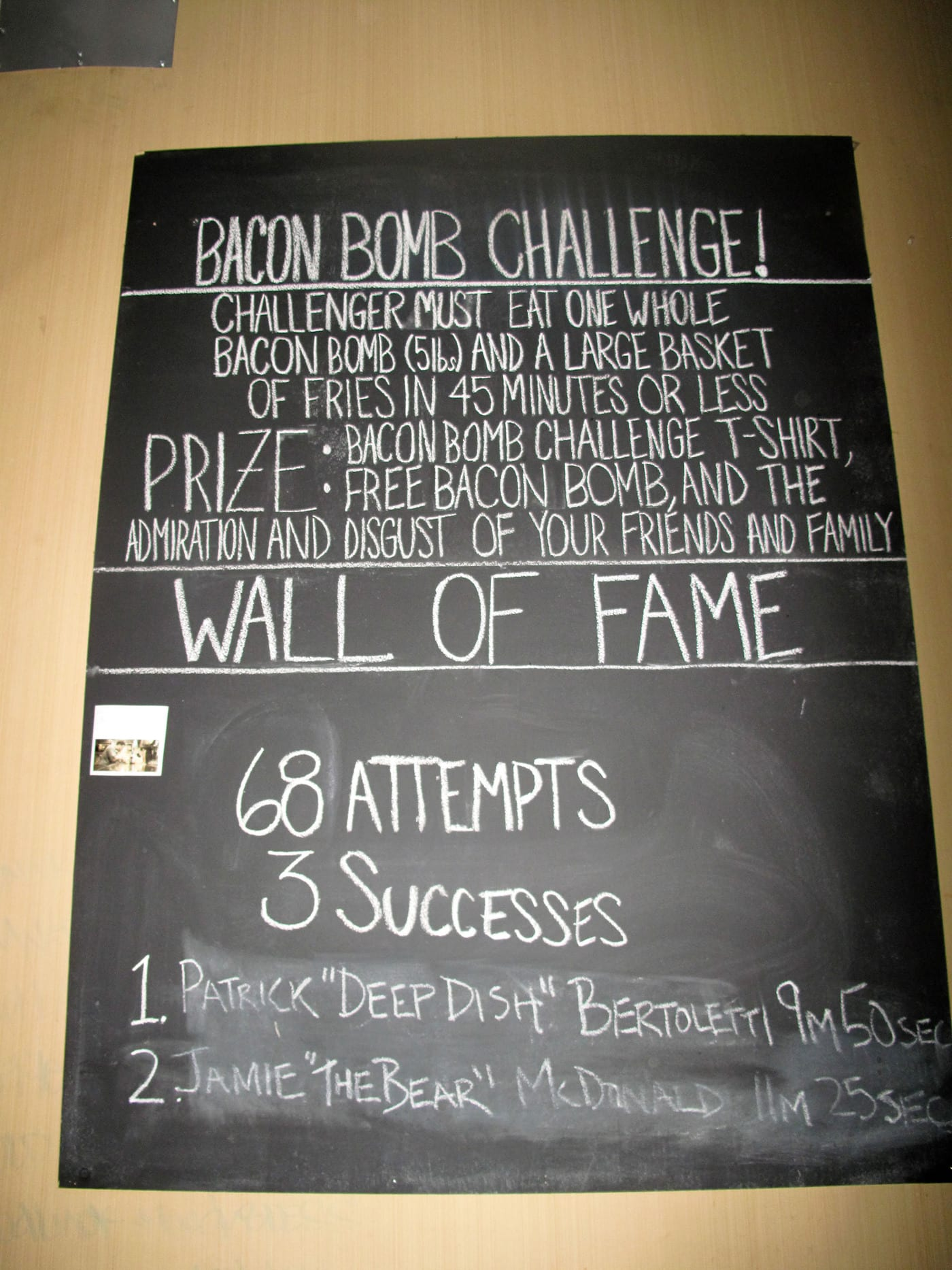 Bacon Bomb Challenge at Paddy Long's in Chicago, Illinois