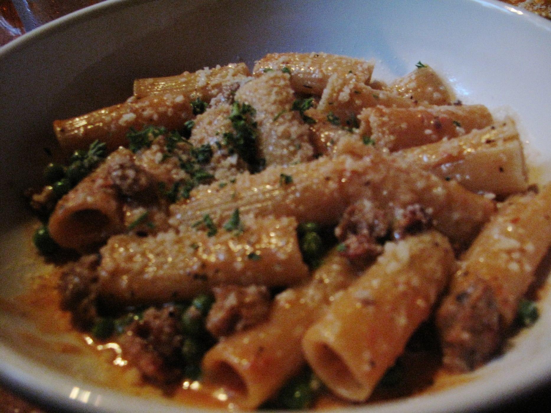 Pasta dinner at Frasca