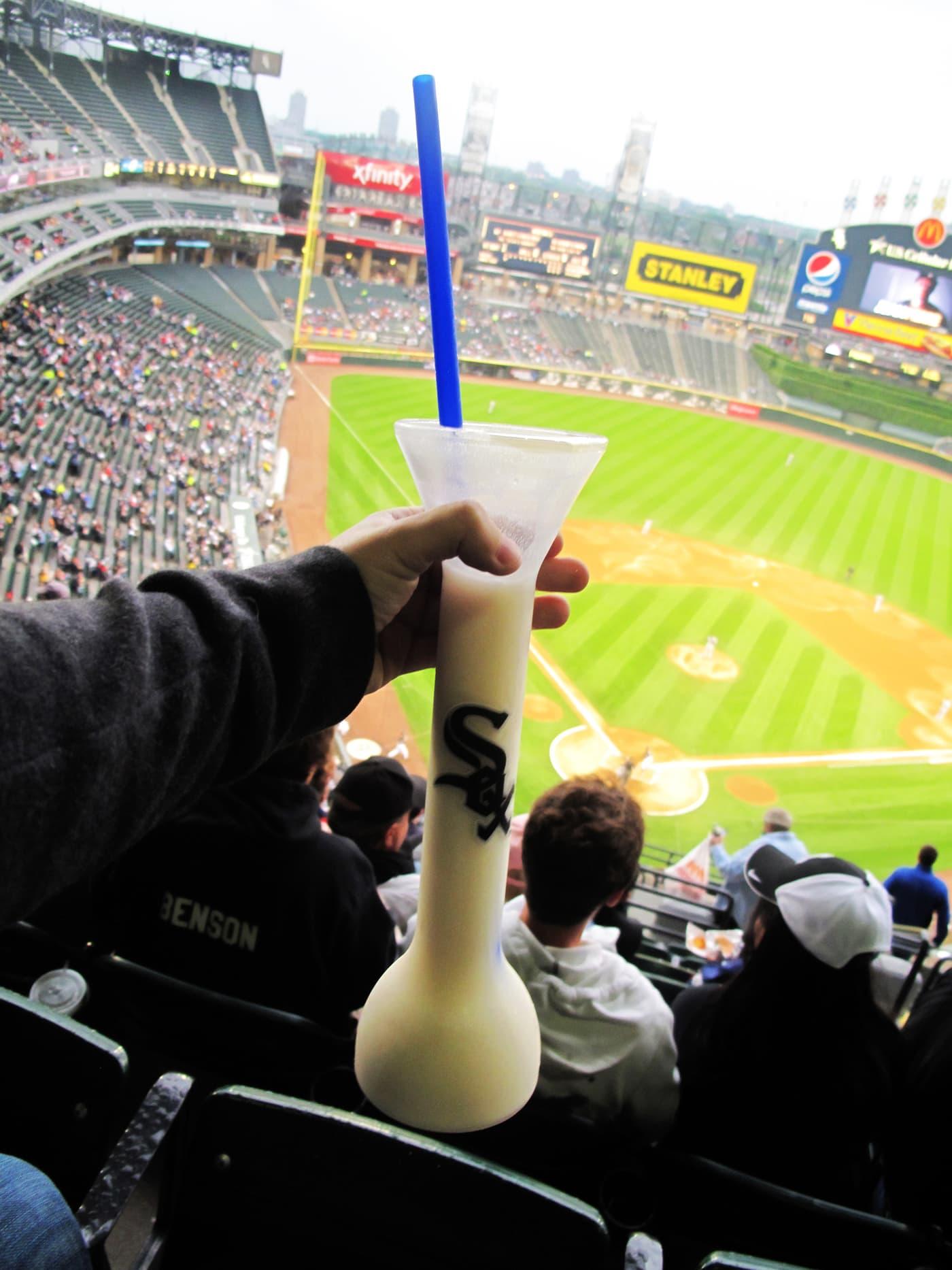 Giant pina colada at a White Sox Game