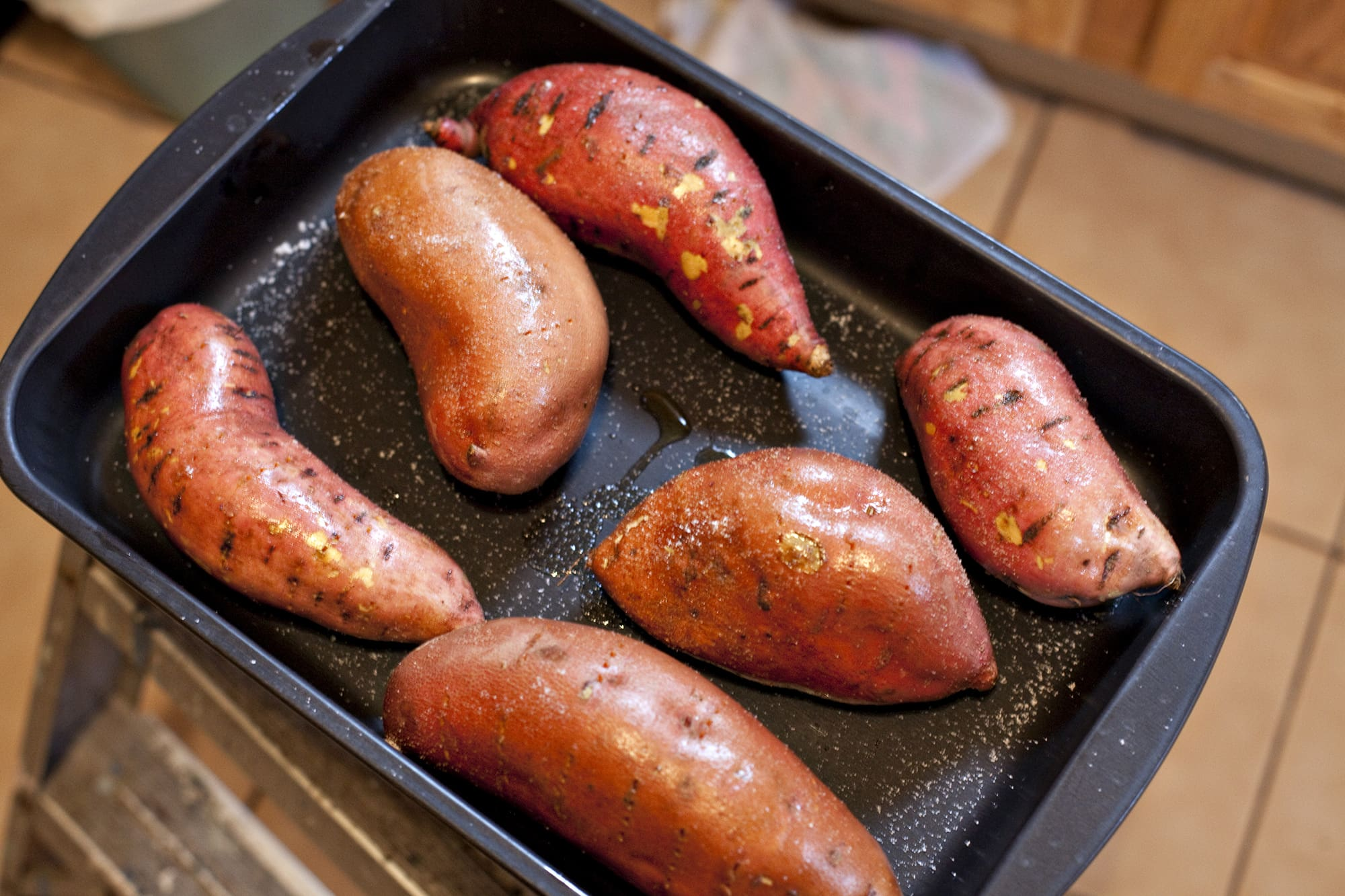 Cooking Thanksgiving Dinner - Sweet Potatoes
