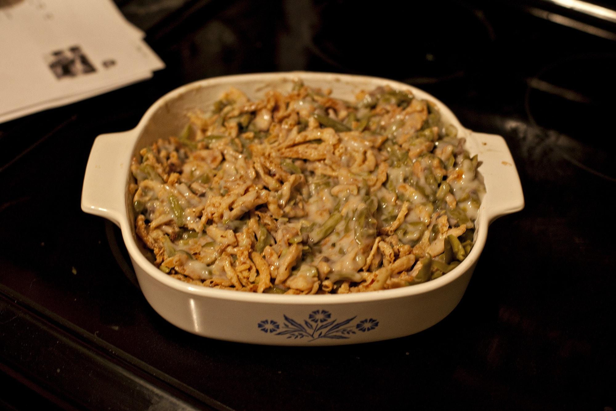 Cooking Thanksgiving Dinner - Green Bean Casserole