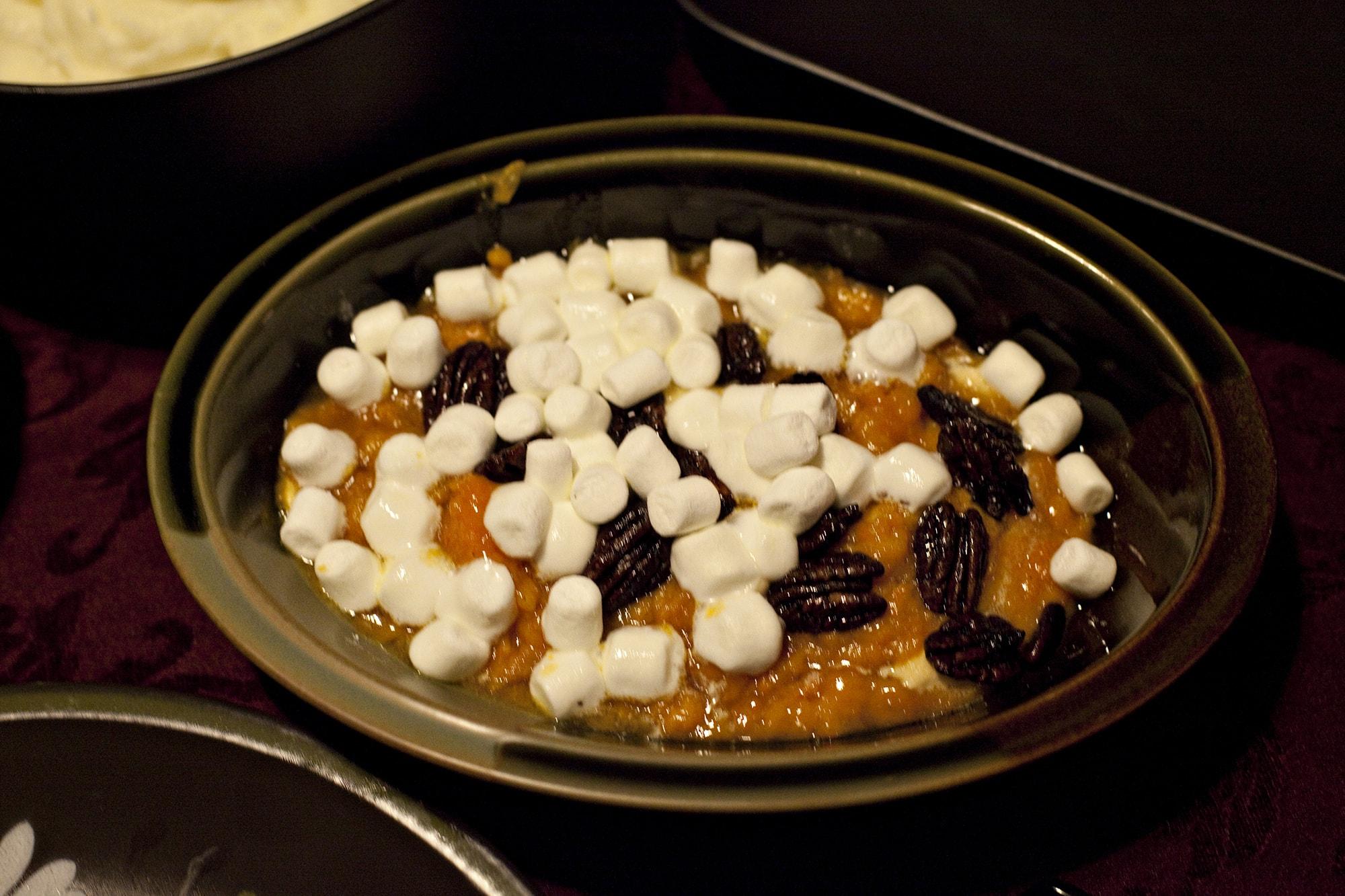 Cooking Thanksgiving Dinner - Sweet Potato Casserole
