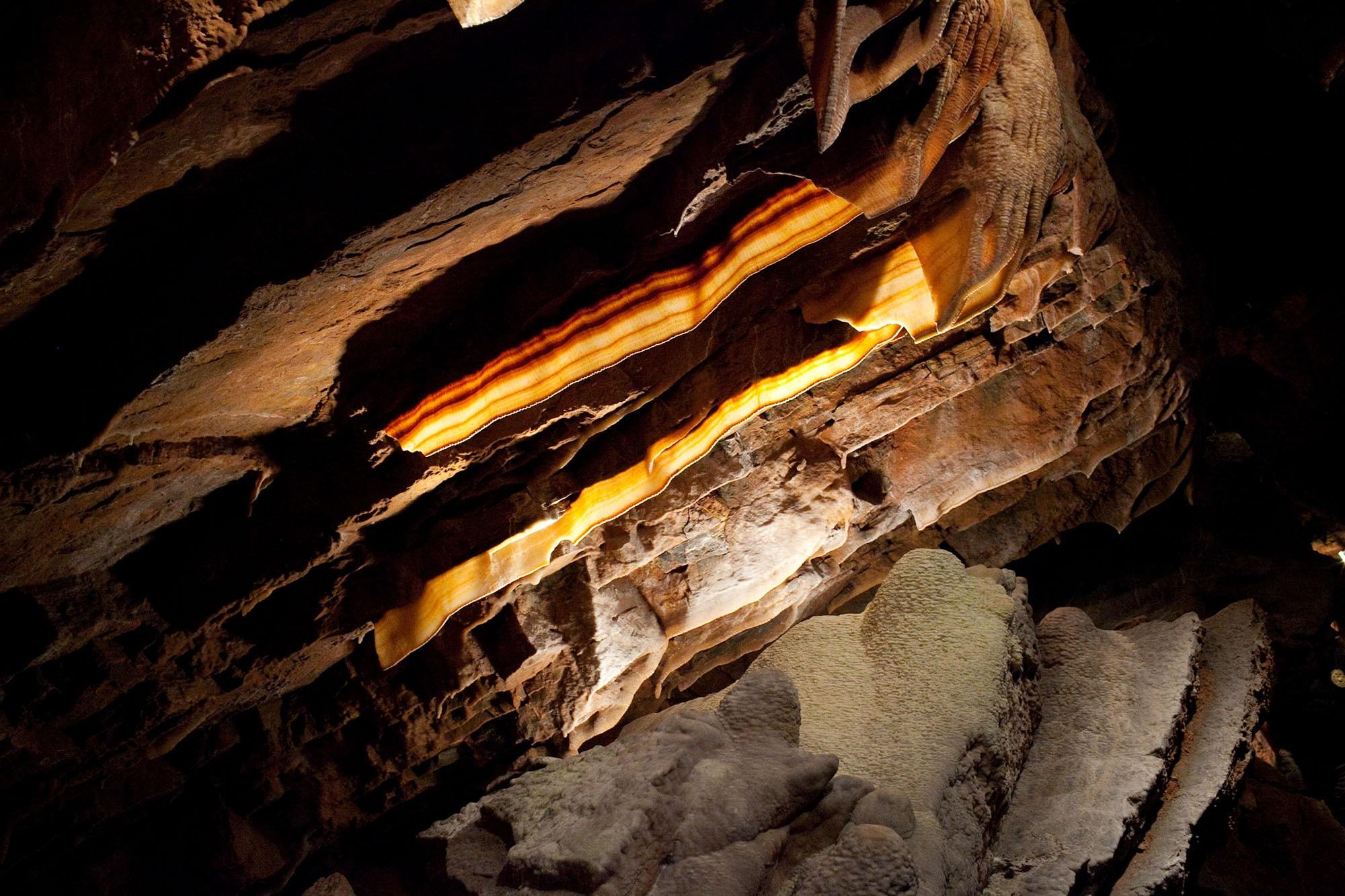 Virginia/North Carolina Road Trip - Shenandoah Caverns - Bacon formations