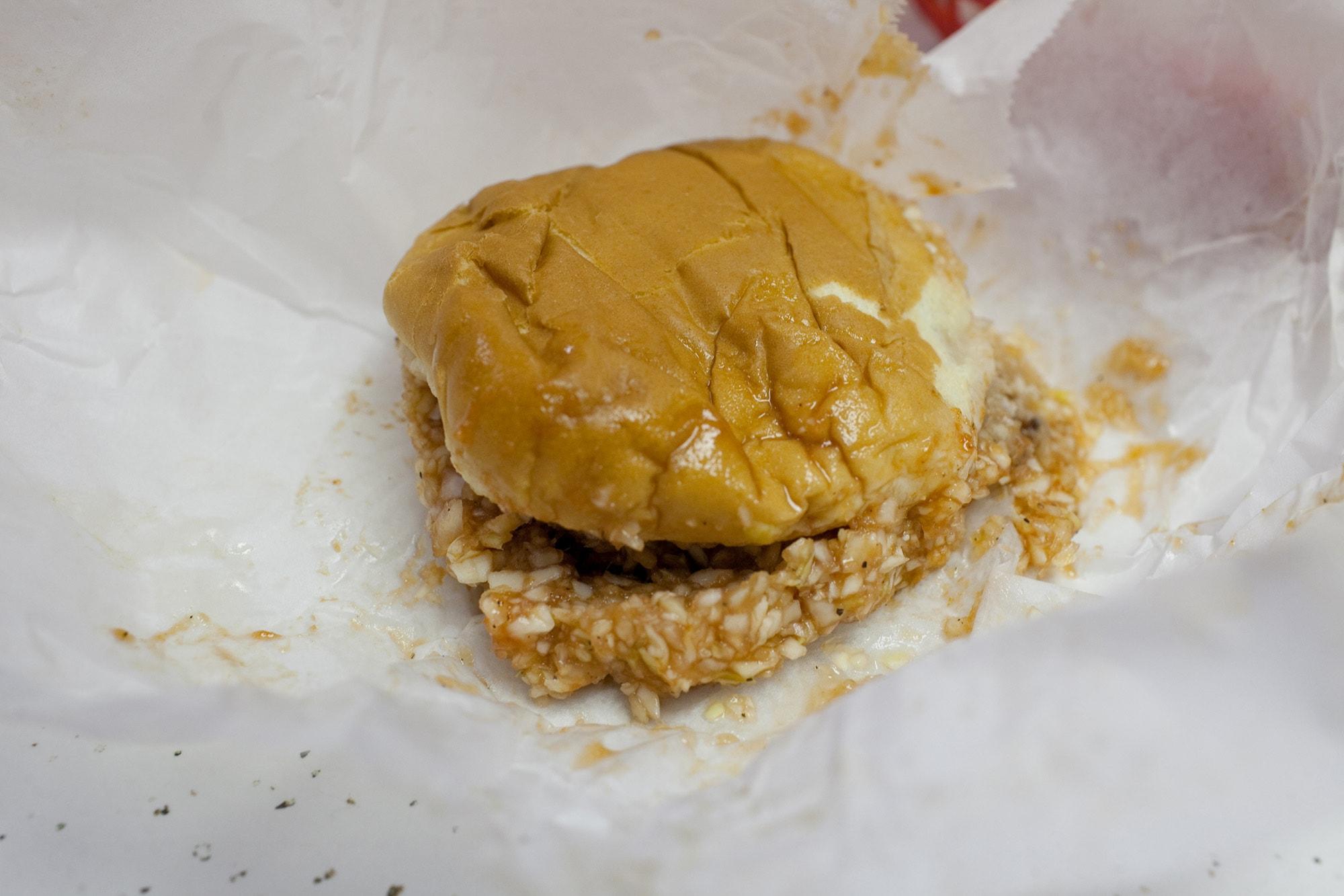 Virginia/North Carolina Road Trip - Lexington BBQ. - chopped BBQ sandwich, hush puppies, and fries