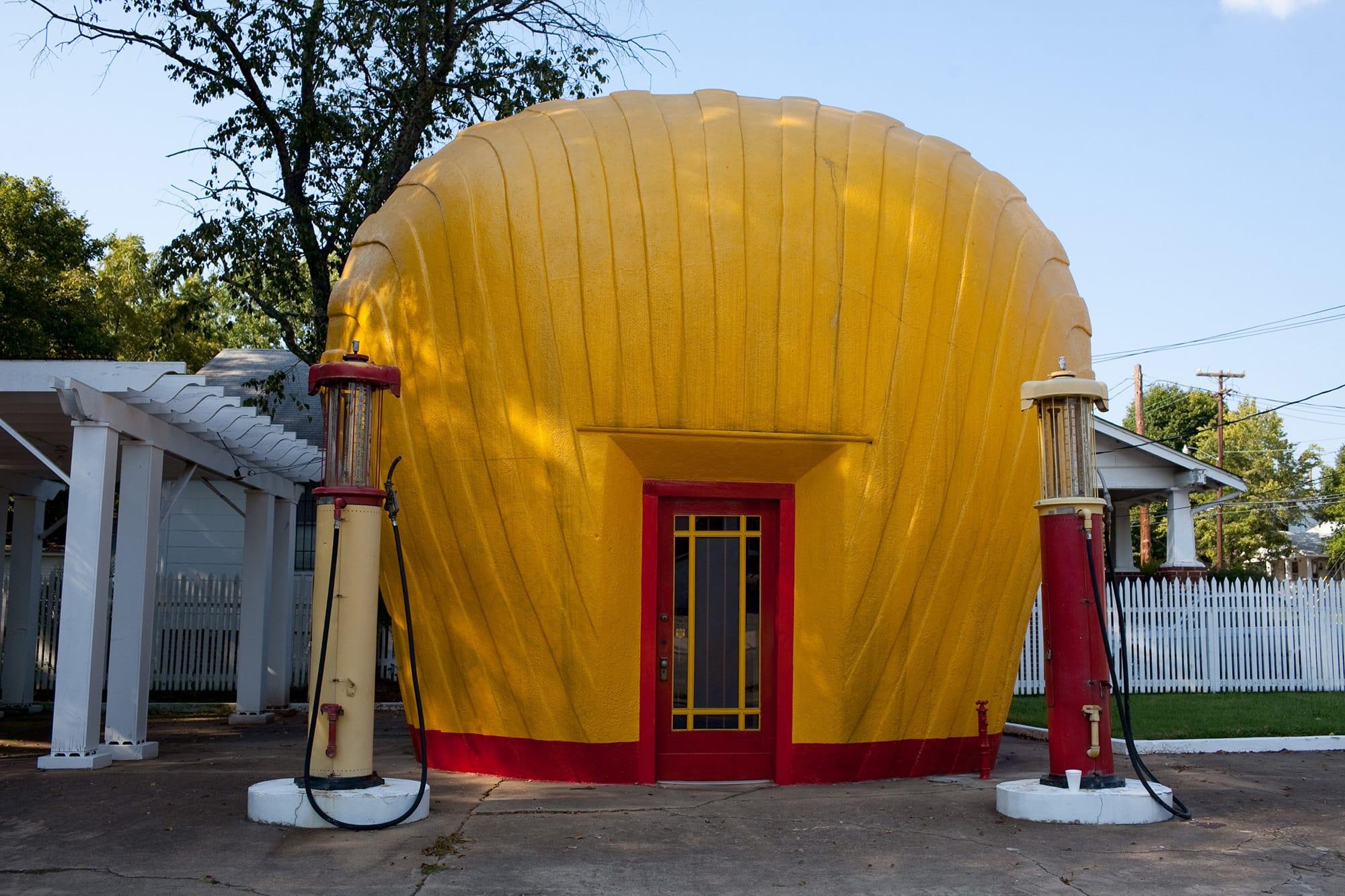 Virginia/North Carolina Road Trip - Shell-Shaped Gas Station