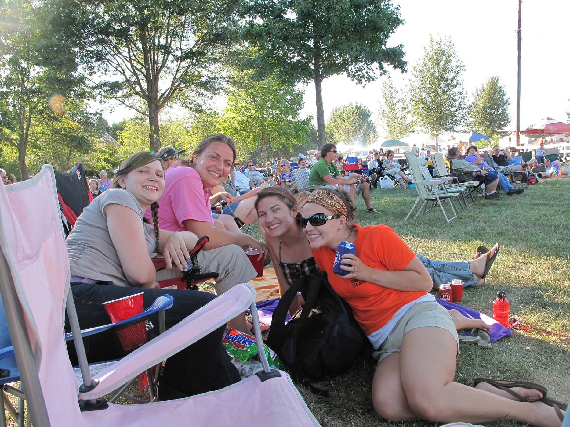 RedBone Willy's Bluegrass and Acoustic Music Festival - Me, Jamie, Carrie, and Sadie