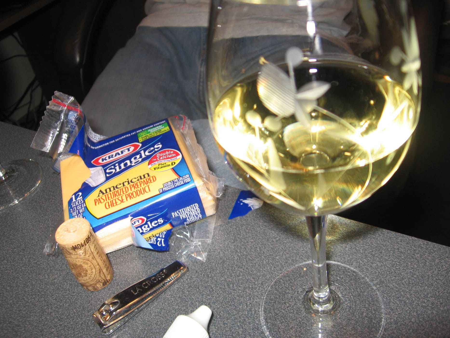 Wine and Kraft Singles
