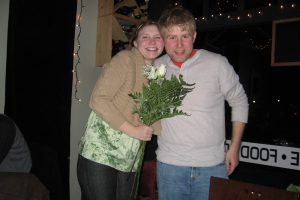 Josh bought me flowers for my 26th birthday party.
