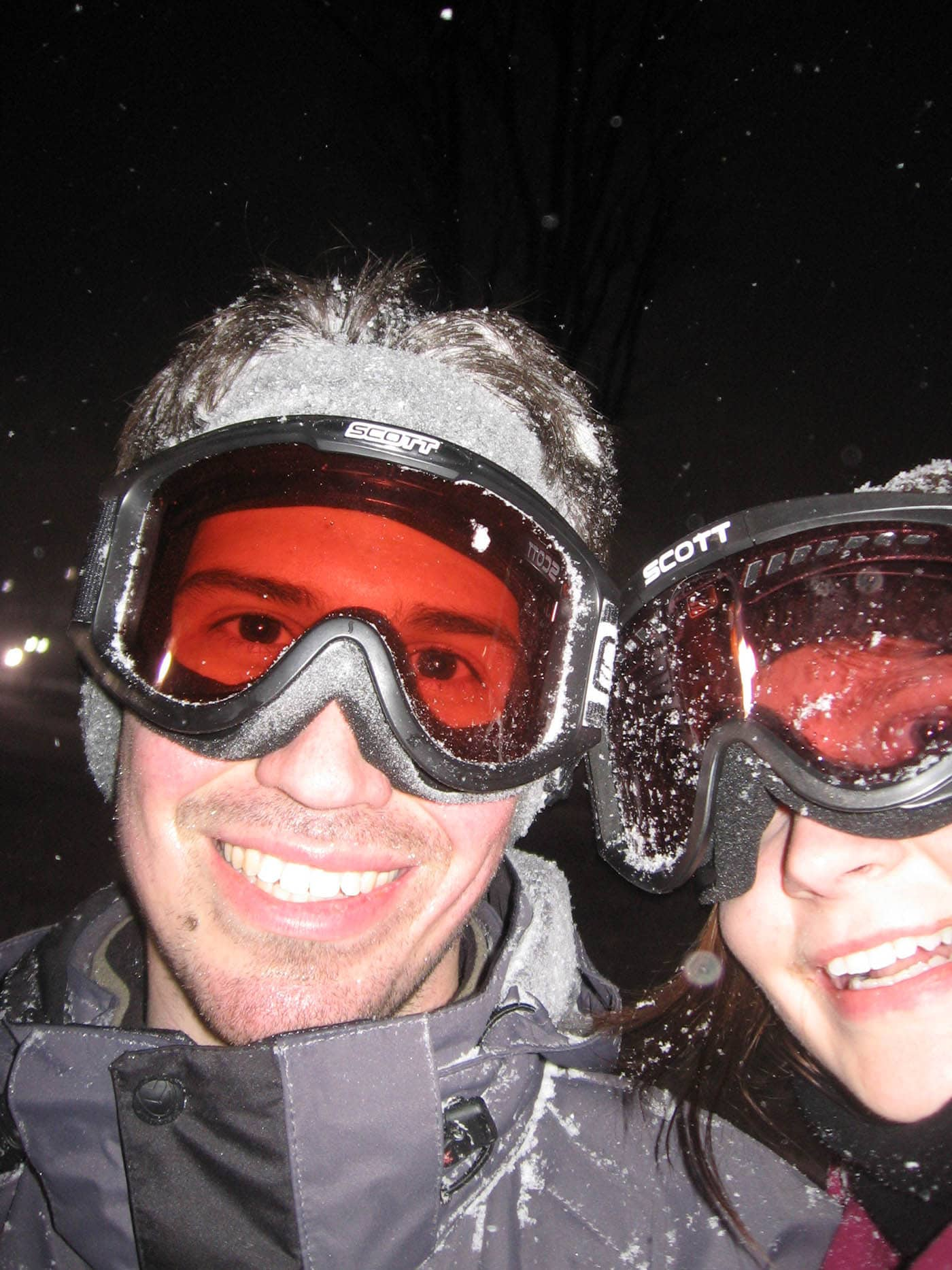 Me and Bobby on the ski slopes on our Ski Trip in Petoskey, Michigan