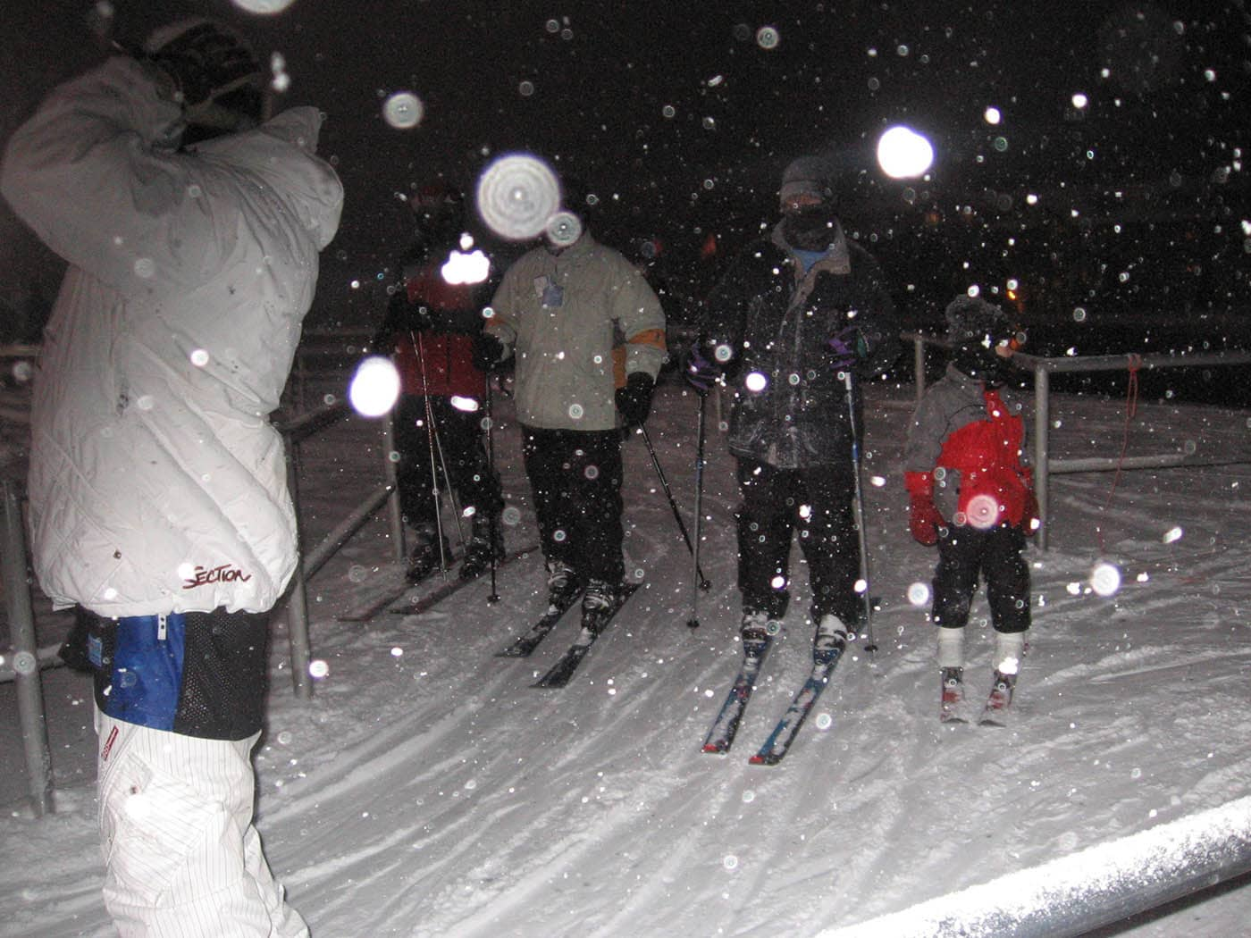 Matt and Matt skiing on our Ski Trip in Petoskey, Michigan