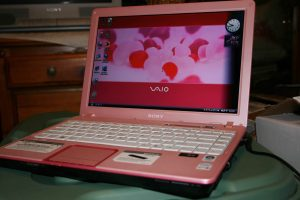 Pink Sony Vaio Laptop