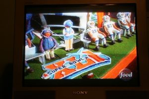 Ace of Cakes Bears Vs. Colts Super Bowl Cake on Food network.