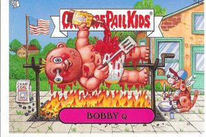 Bobby Q Garbage Pail Kids trading card (too bad it's not Garbage Pail Kids Valerie Vomit for me!)