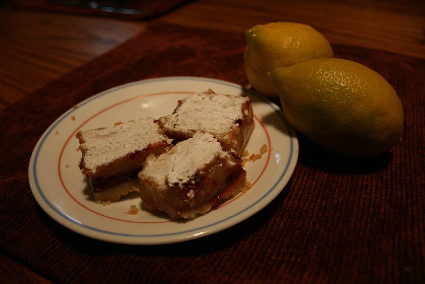 raspberry lemon bars.