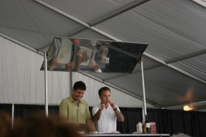 Dan and Steve from Food Network Star at Printer's Row Book Fair in Chicago, Illinois.