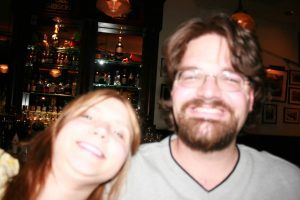 Me and Scott at his birthday party at Frog Bar.