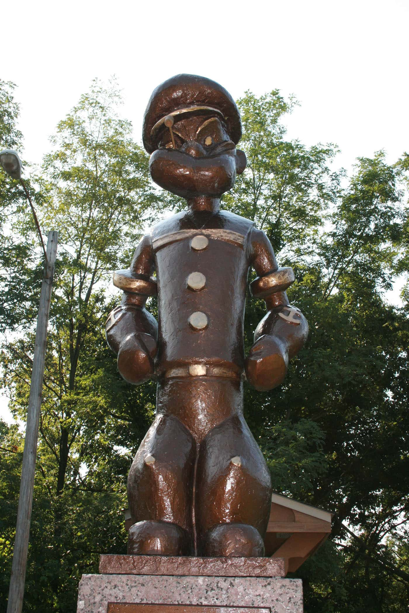 ILLINOIS ROAD TRIP AND ROADSIDE ATTRACTIONS: POPEYE STATUE IN CHESTER