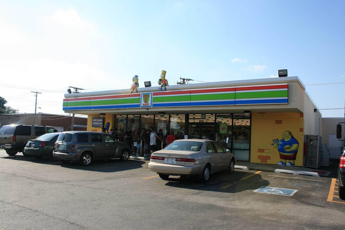 The Simpsons 7-Eleven Kwik-E-Mart in Chicago, Illinois.
