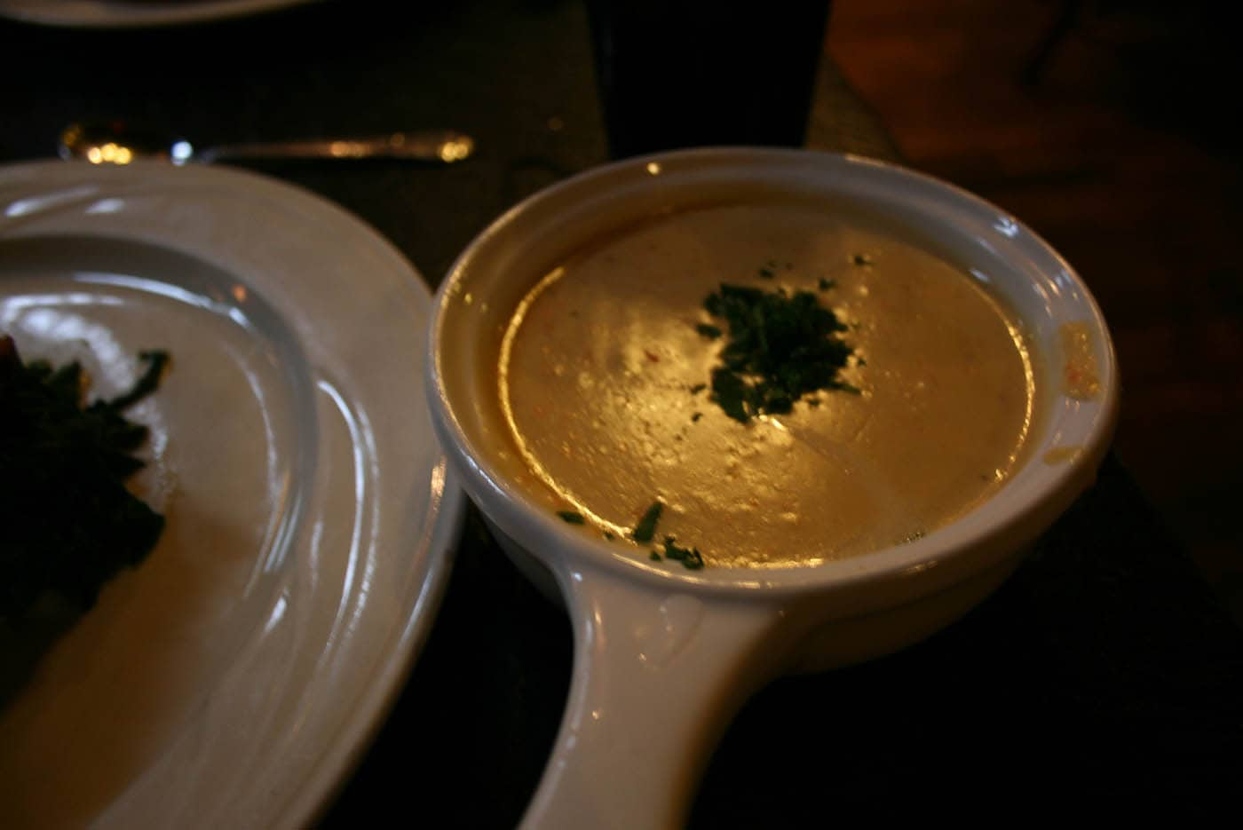 Stilton Cheese Soup at the Great Lakes Brewing Company restaurant in Cleveland, Ohio.