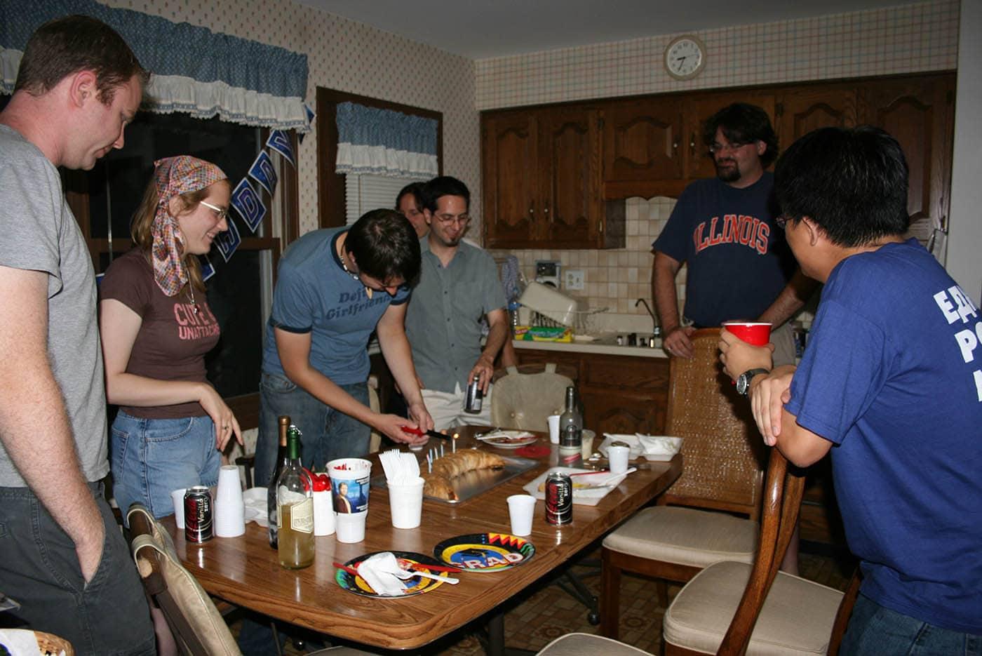 Cynthia's birthday party.