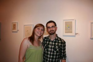 Me and Kurt Halsey at the Kurt Halsey art show at DVA Gallery in Chicago.