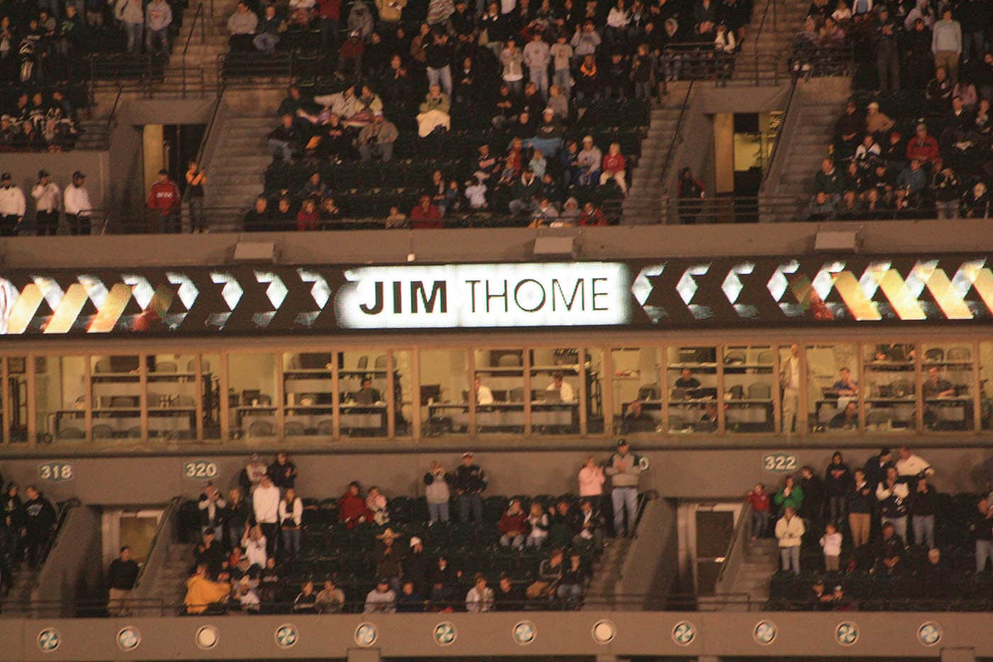 Not Jim Thome's 500th home run at a White Sox game.