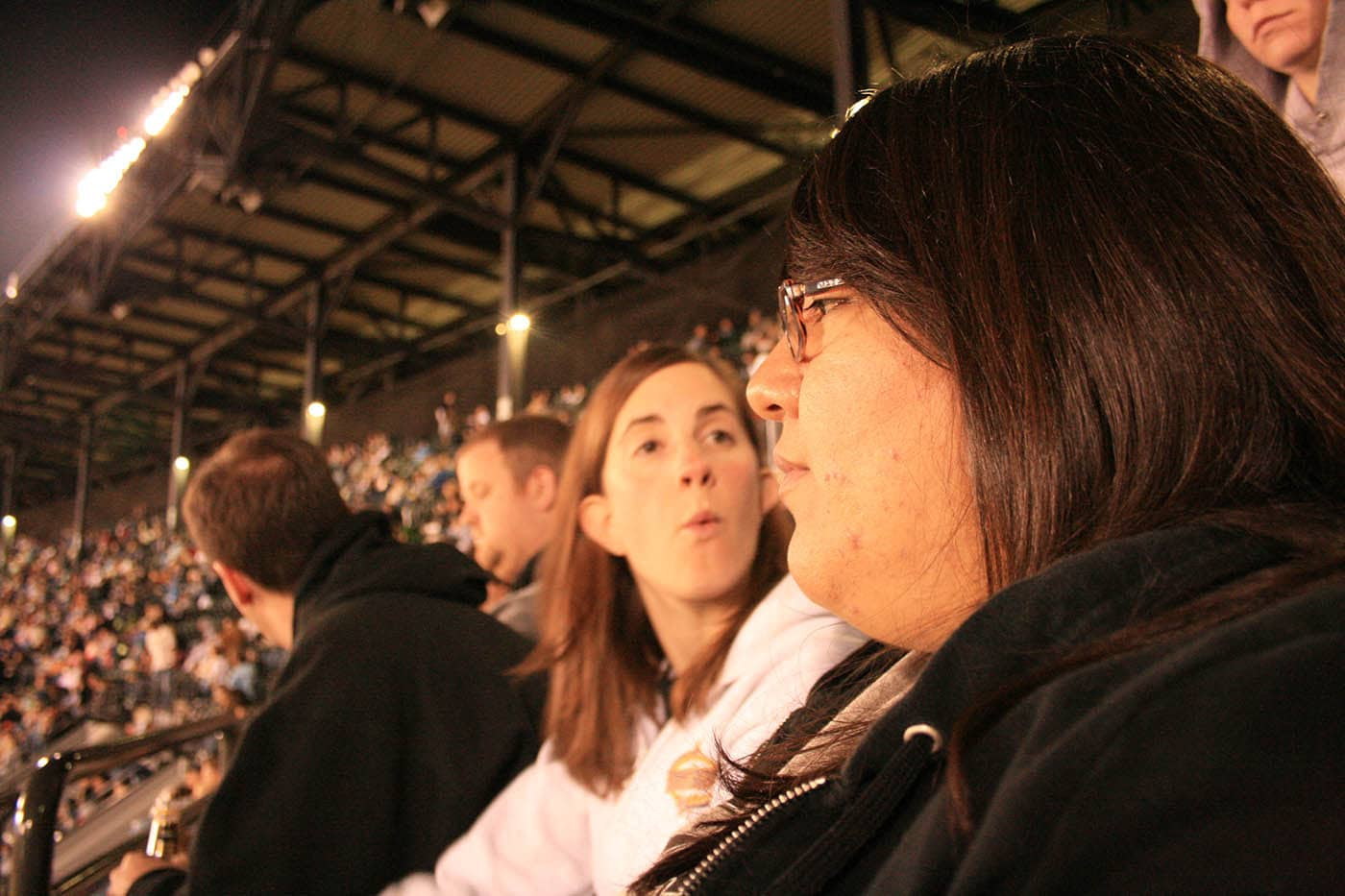 With friends at a White Sox game.