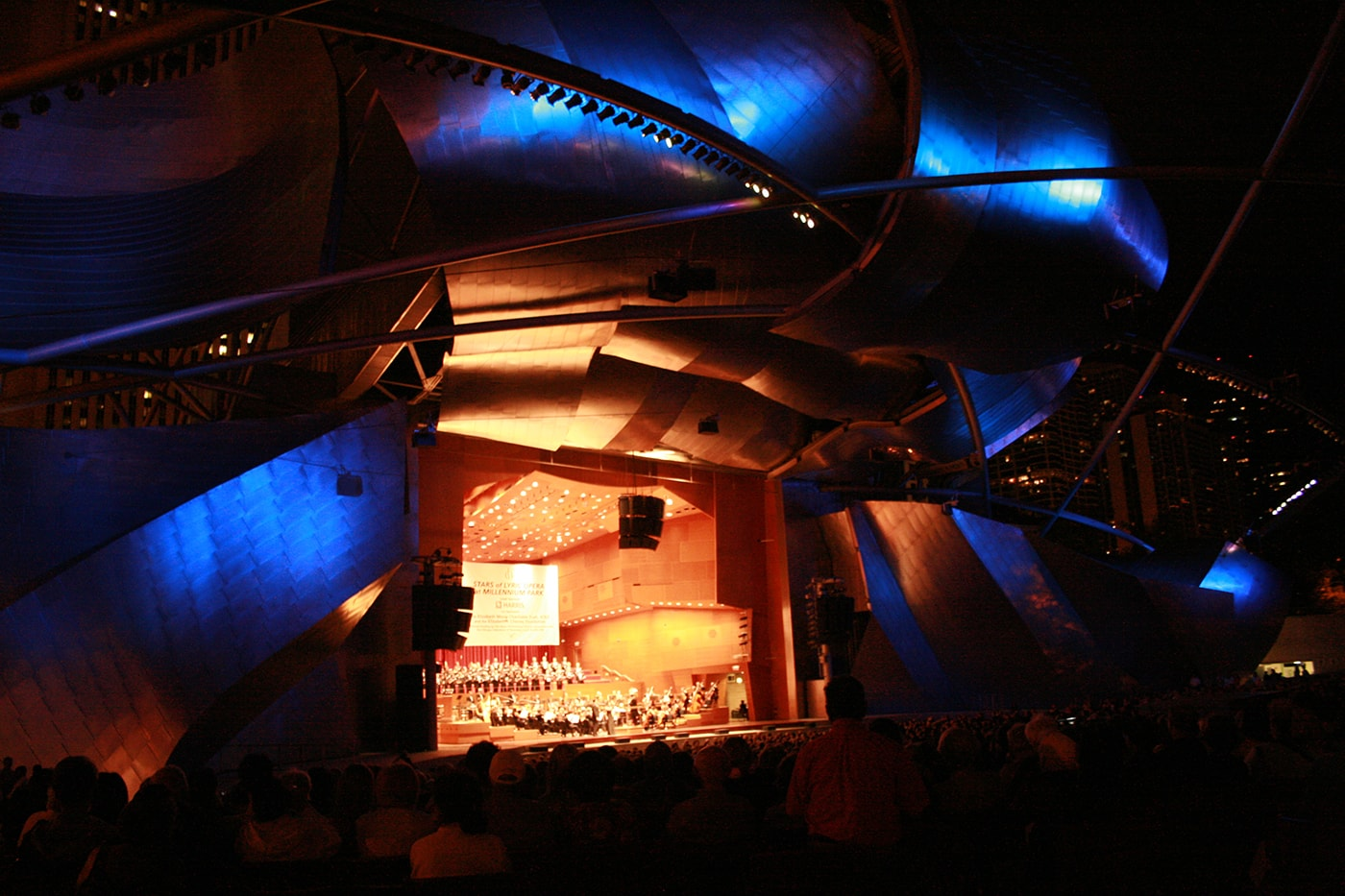 Stars of Lyric Opera at Millennium Park in Chicago, Illinois.