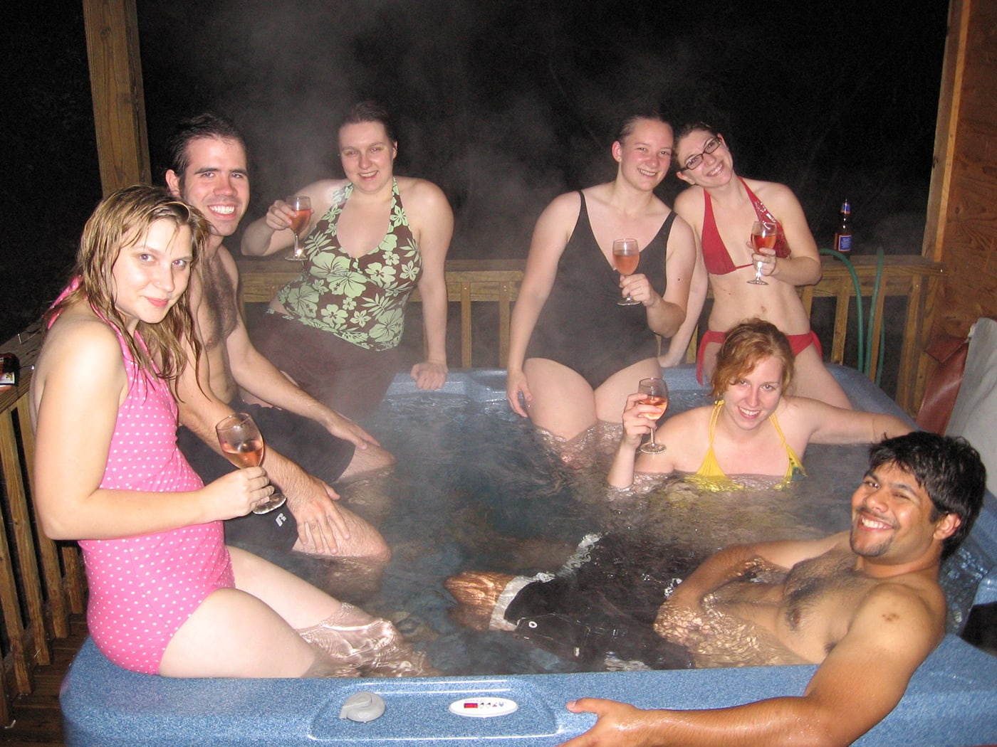 Hot tub in the cabin   White Water Rafting on the Upper Gauley River in West Virginia.
