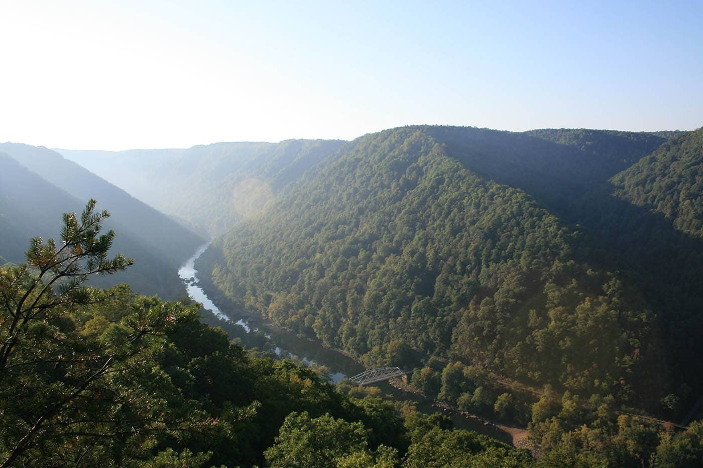 The New River in West Virginia