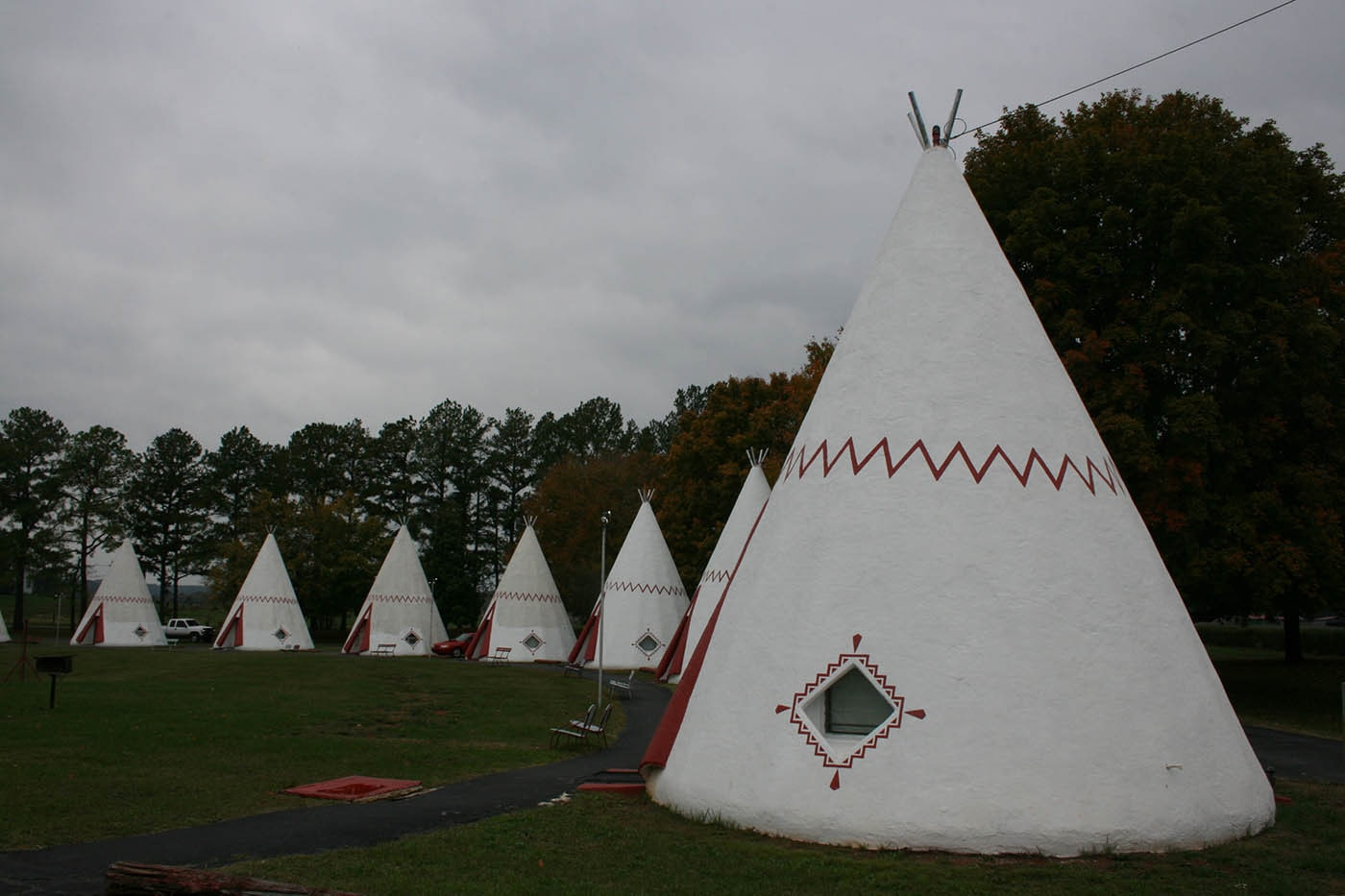 Wigwam Village in Cave City, Kentucky.