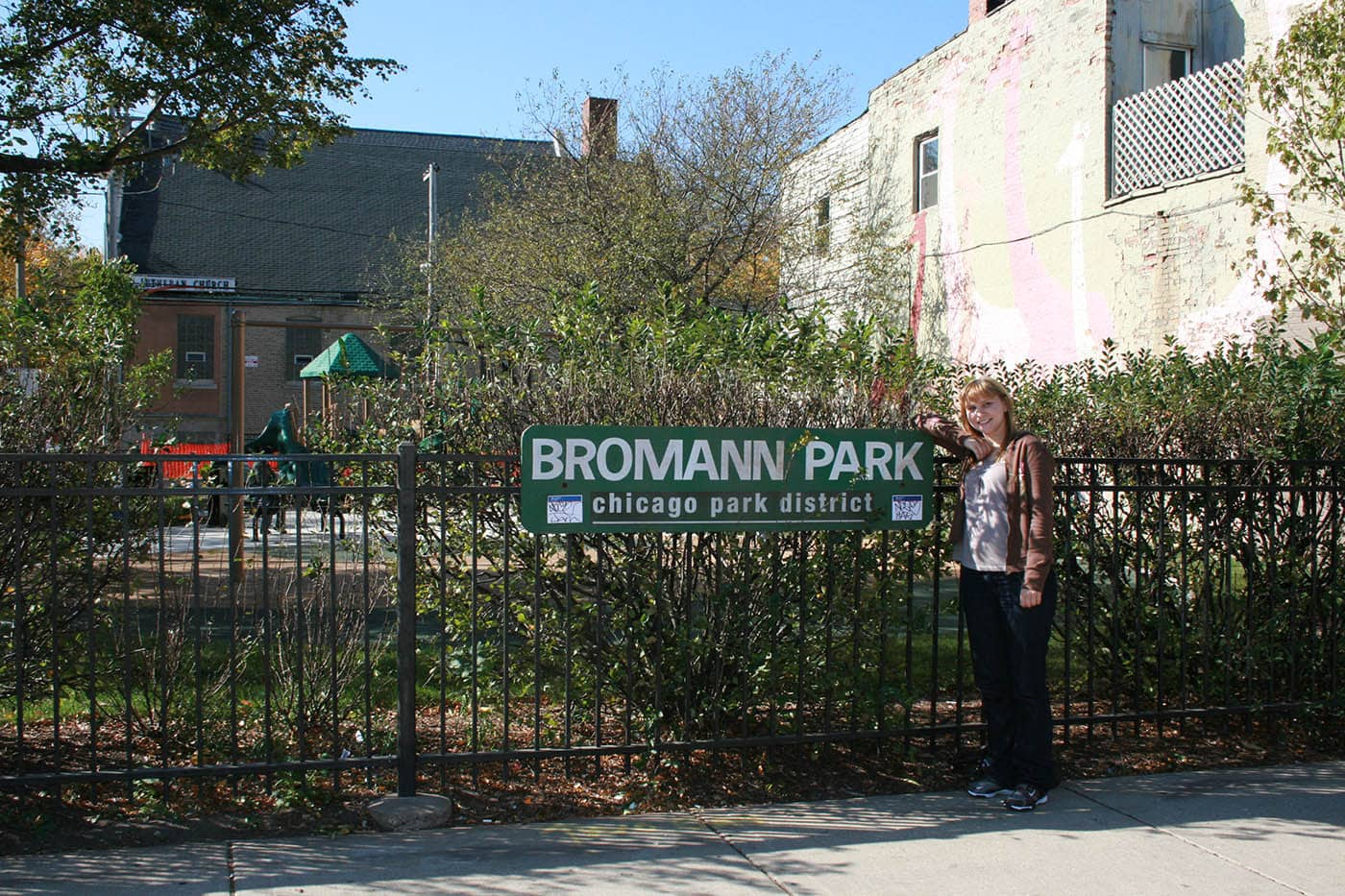 Bromann Playlot Park in Chicago, Illinois.