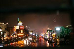 The Las Vegas strip in the Rain. Viva Las Vegas!