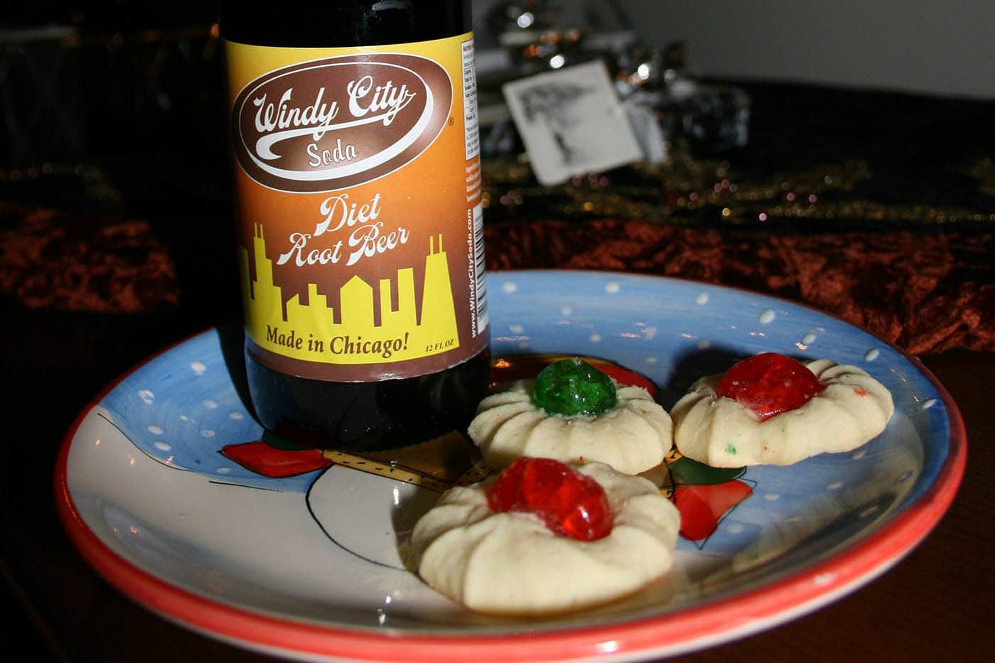 Leaving out diet root beer and cookies for Santa..
