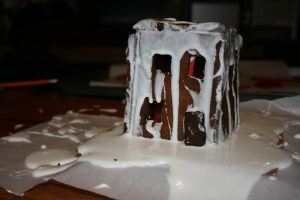 The worst gingerbread house ever made.