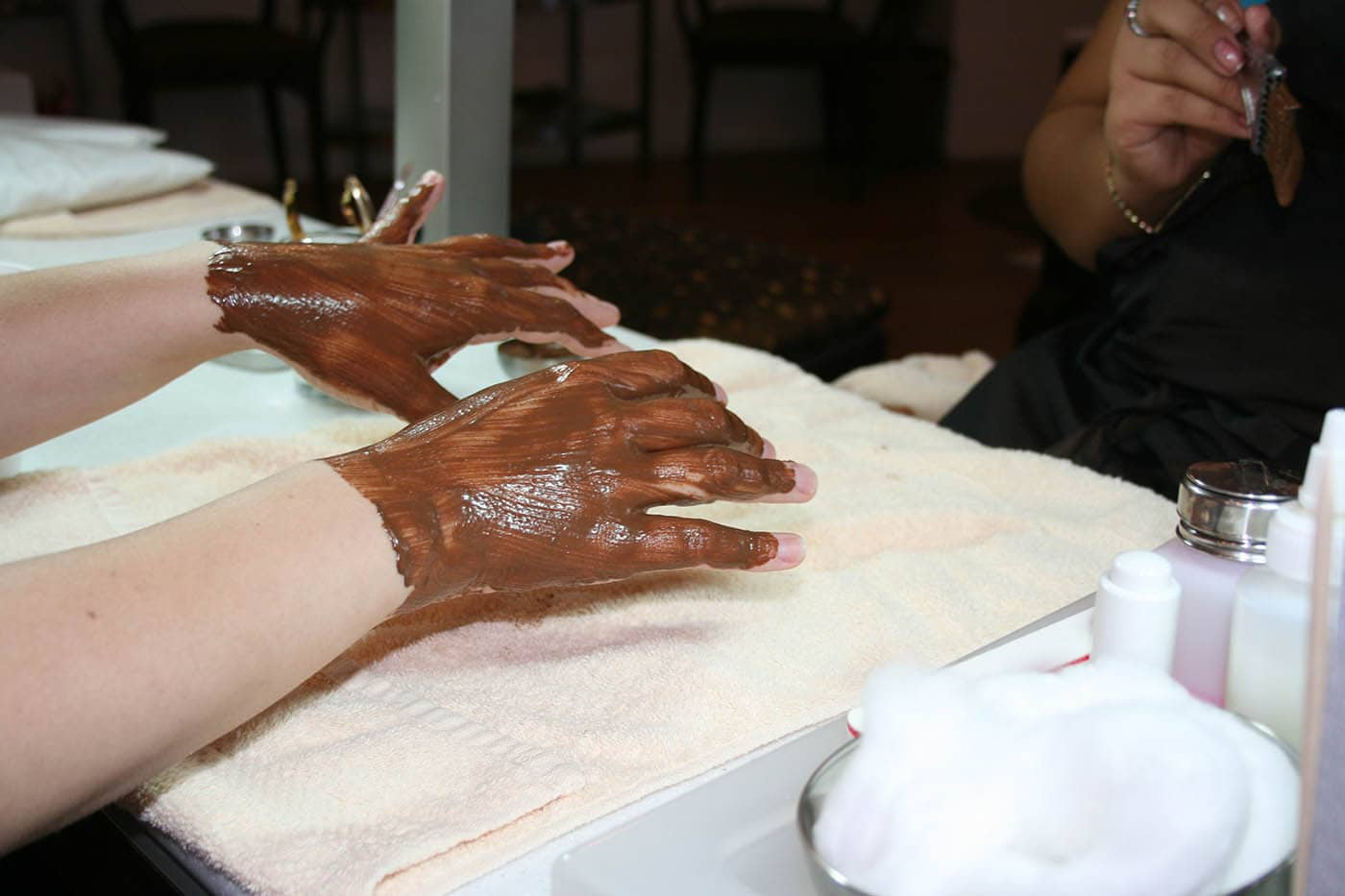 Chocolate signature manicure from Chocolate for Your Body Spa in Chicago, Illinois. Celebrating my 27th birthday.