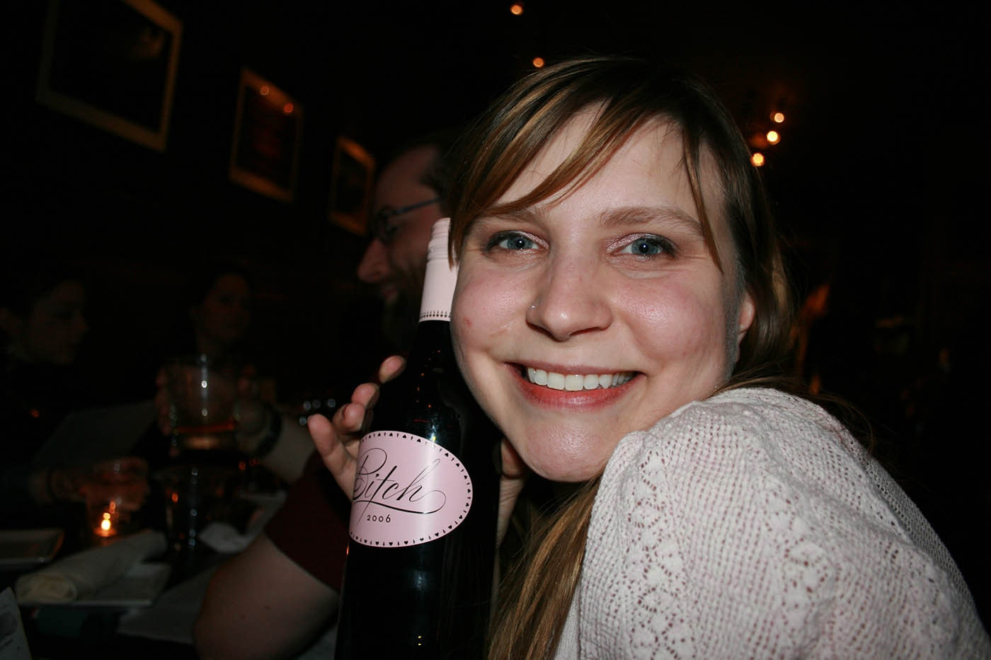Me with a bottle of Bitch Wine on my 27th birthday.