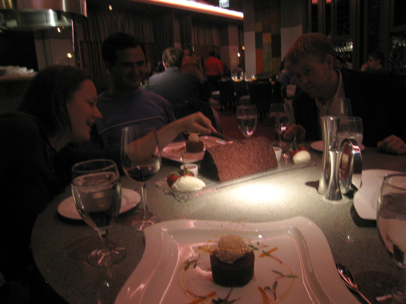 Chicago restaurant week. The best chocolate cake in Chicago at Aria.