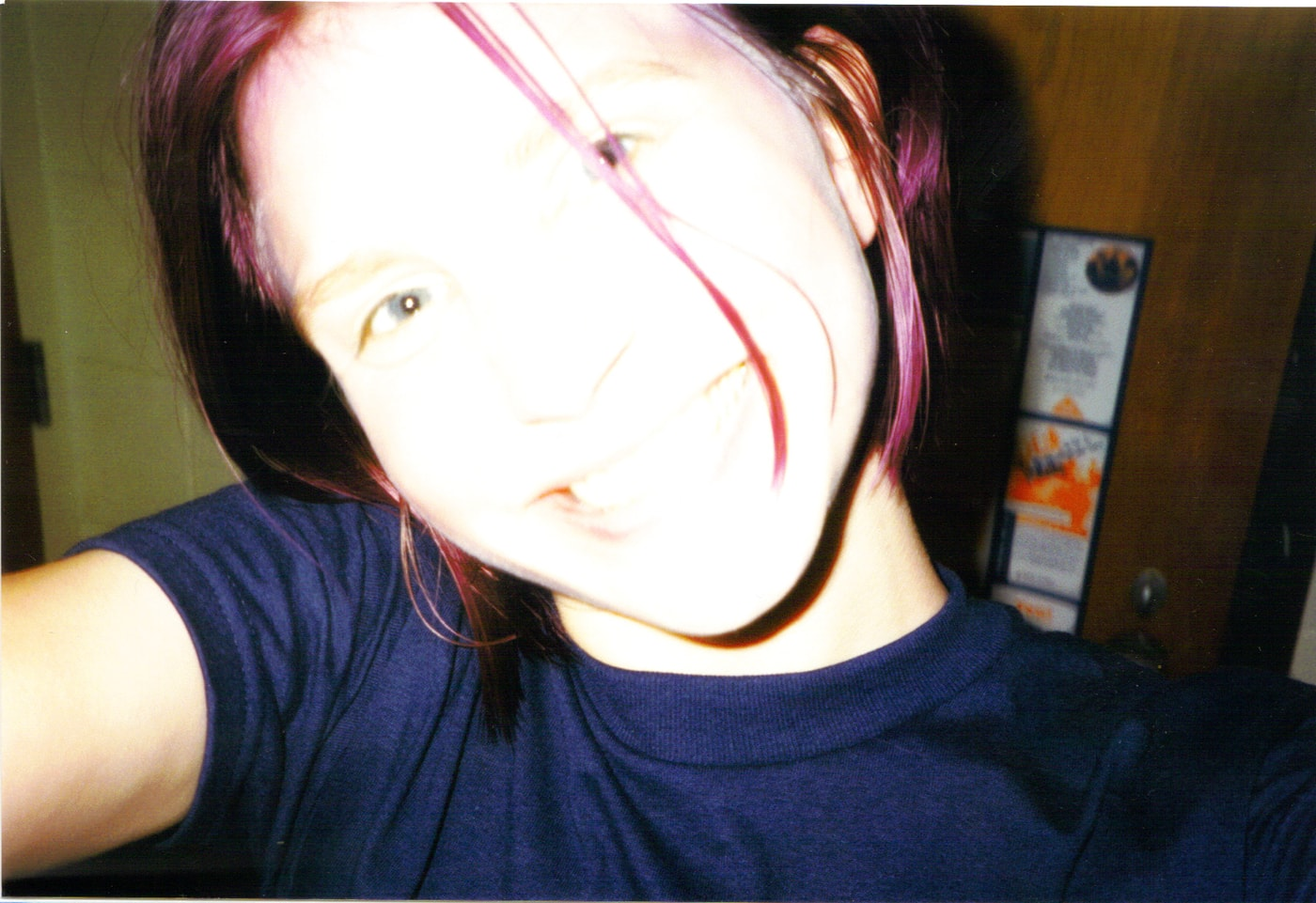 That one time in college I dyed my hair purple... Dying my hair purple in my college dorm room.