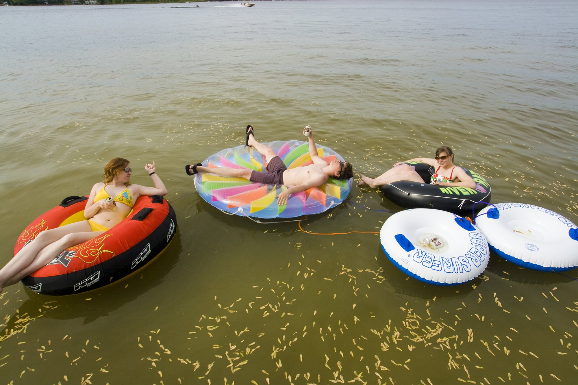 Floating on the lake | Memorial Day Weekend in Decatur, Michigan