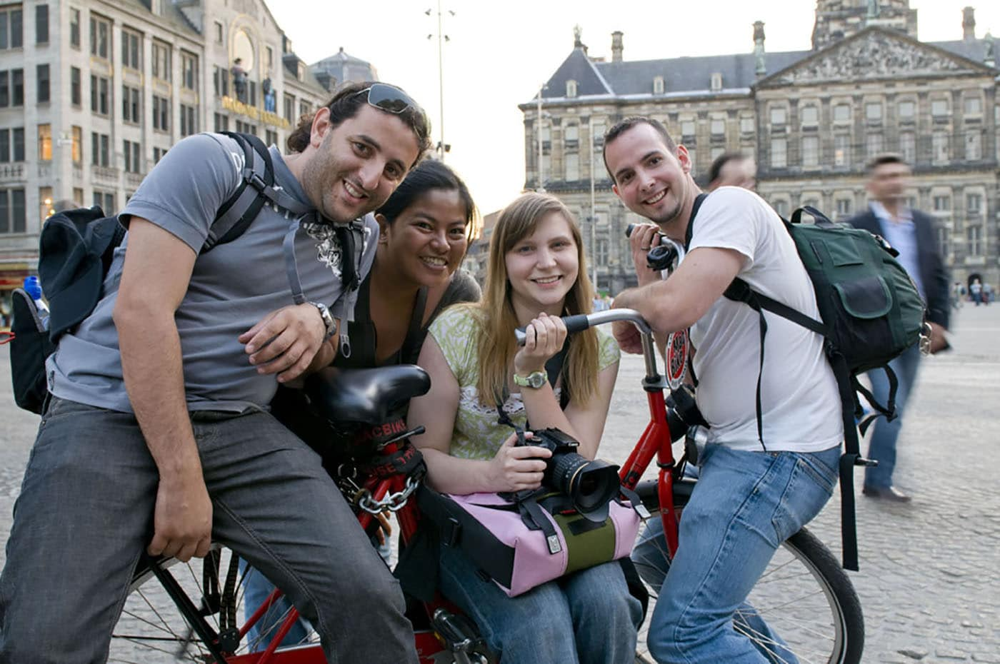 Photographing Amsterdam with new friends.