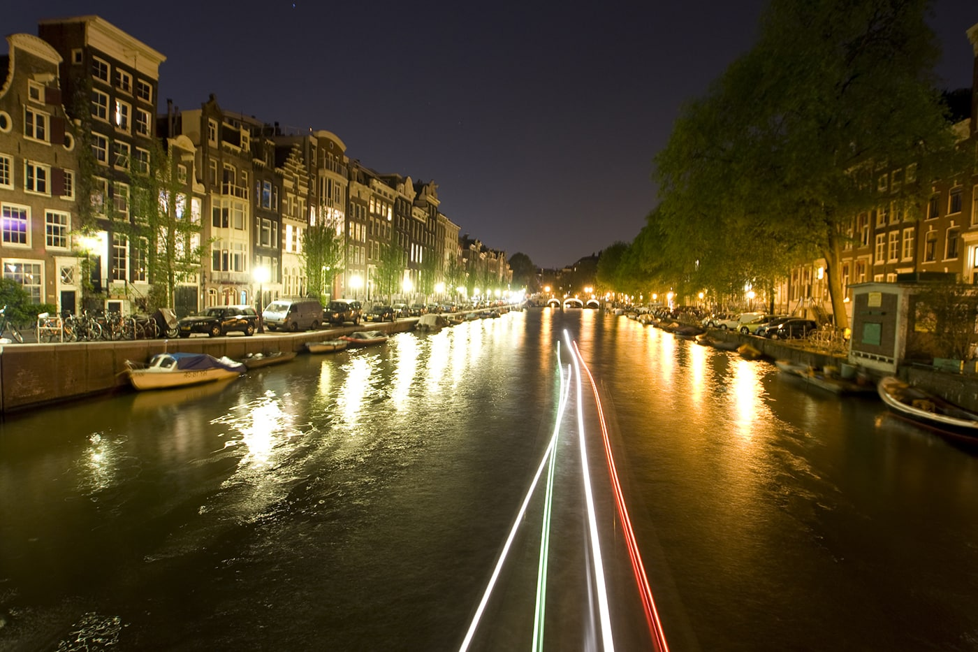 The canals in Amsterdam.