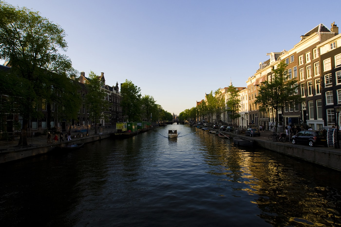 Canals in Amsterdam, The Netherlands.