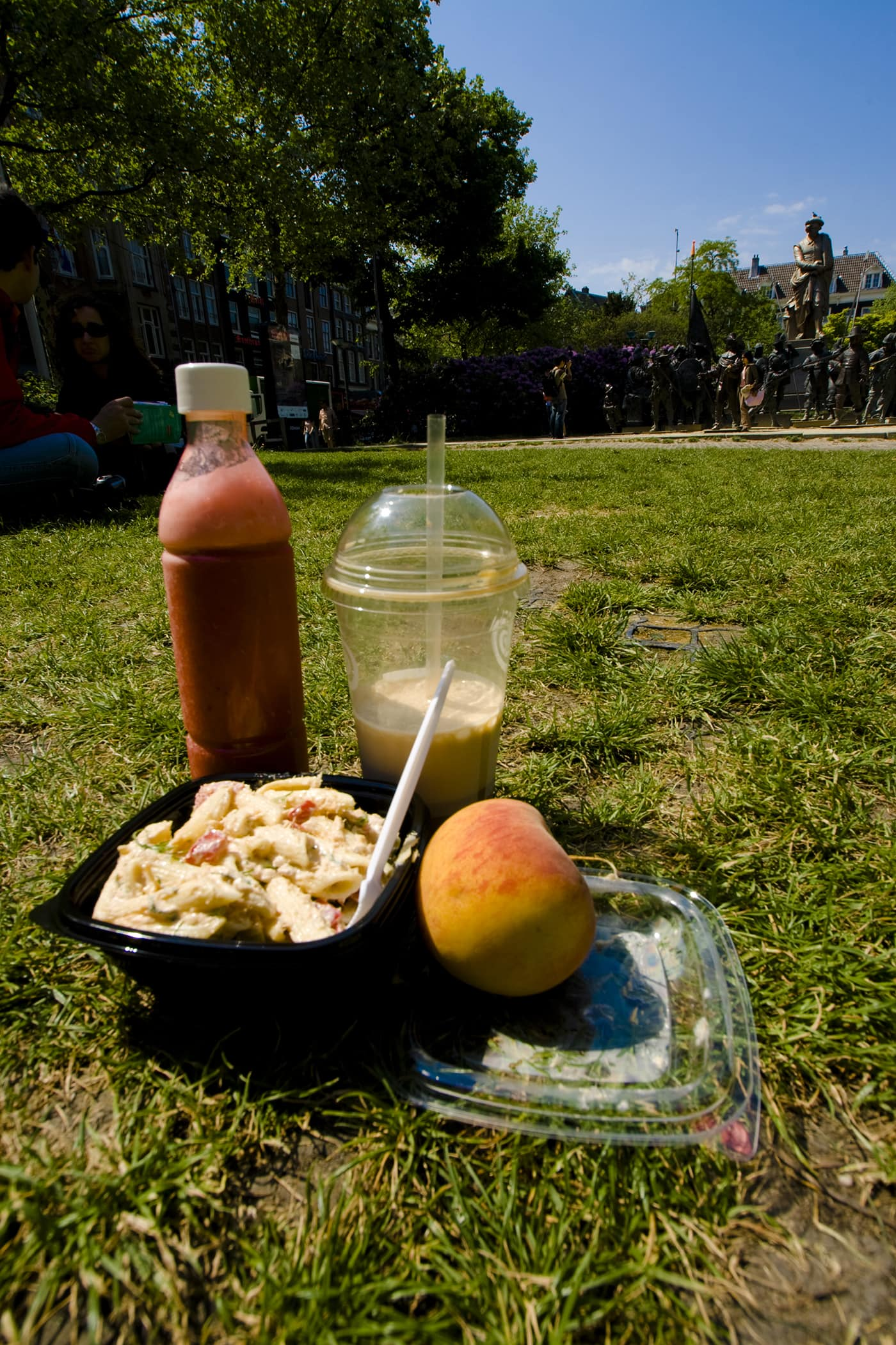 Lunch in a park in Amsterdam.