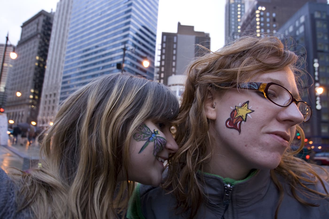 Face painting at Looptopia in Chicago, Illinois.
