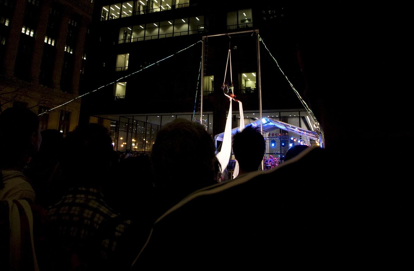 Midnight Circus at Looptopia in Chicago, Illinois.